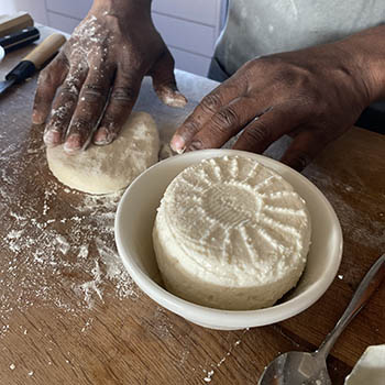 How to bake Indian cheese naan