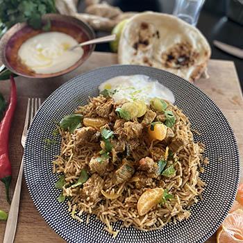 Chicken biryani virtual cooking course